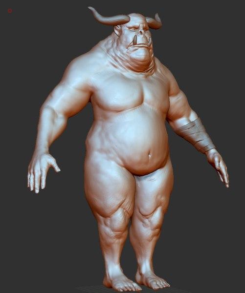 3D model orc creature human