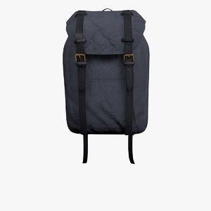 blue rucksack bag 3D