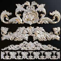 A set of decorative stucco