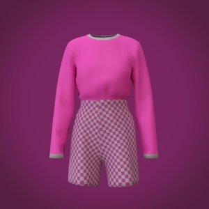 pant shorts t 3D model