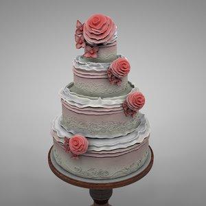 3D model wedding cake l129