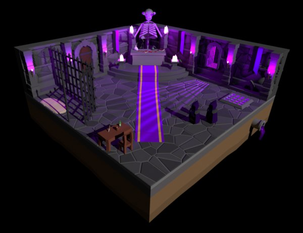 dungeon purple 3D