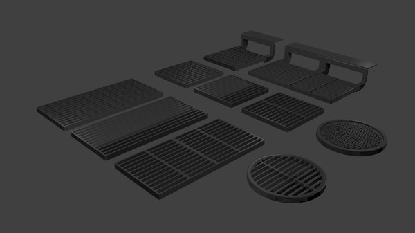roadway drains 3D model