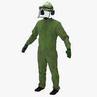 overall worker uniforms apparel 3D
