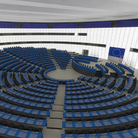 european hall interior eu 3D model