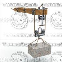3D crane arm leonardo da model