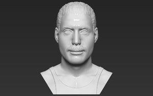 3D freddie mercury bust ready model