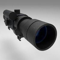 3D rifle scope weapon unity