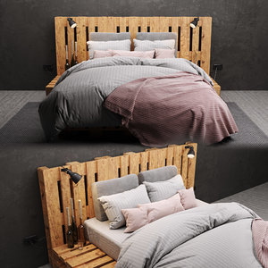 bed pallets 3D model