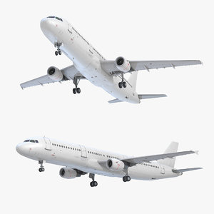 3D model a321 generic white
