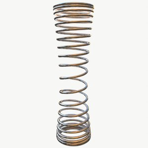 metal spiral spring model