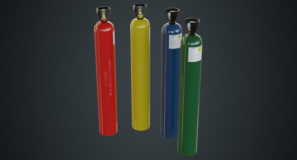 gas cylinder contains 2a 3D model