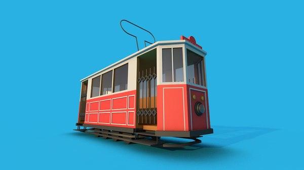 3D model istanbul nostalgic tram
