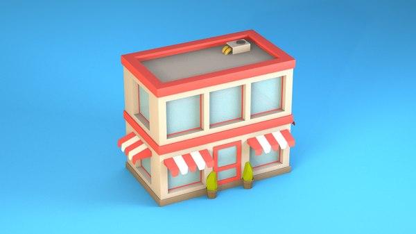 store market 3D model