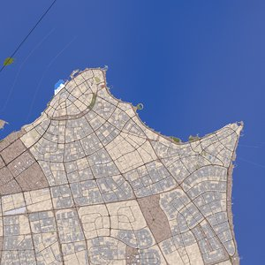 3D kuwait city model
