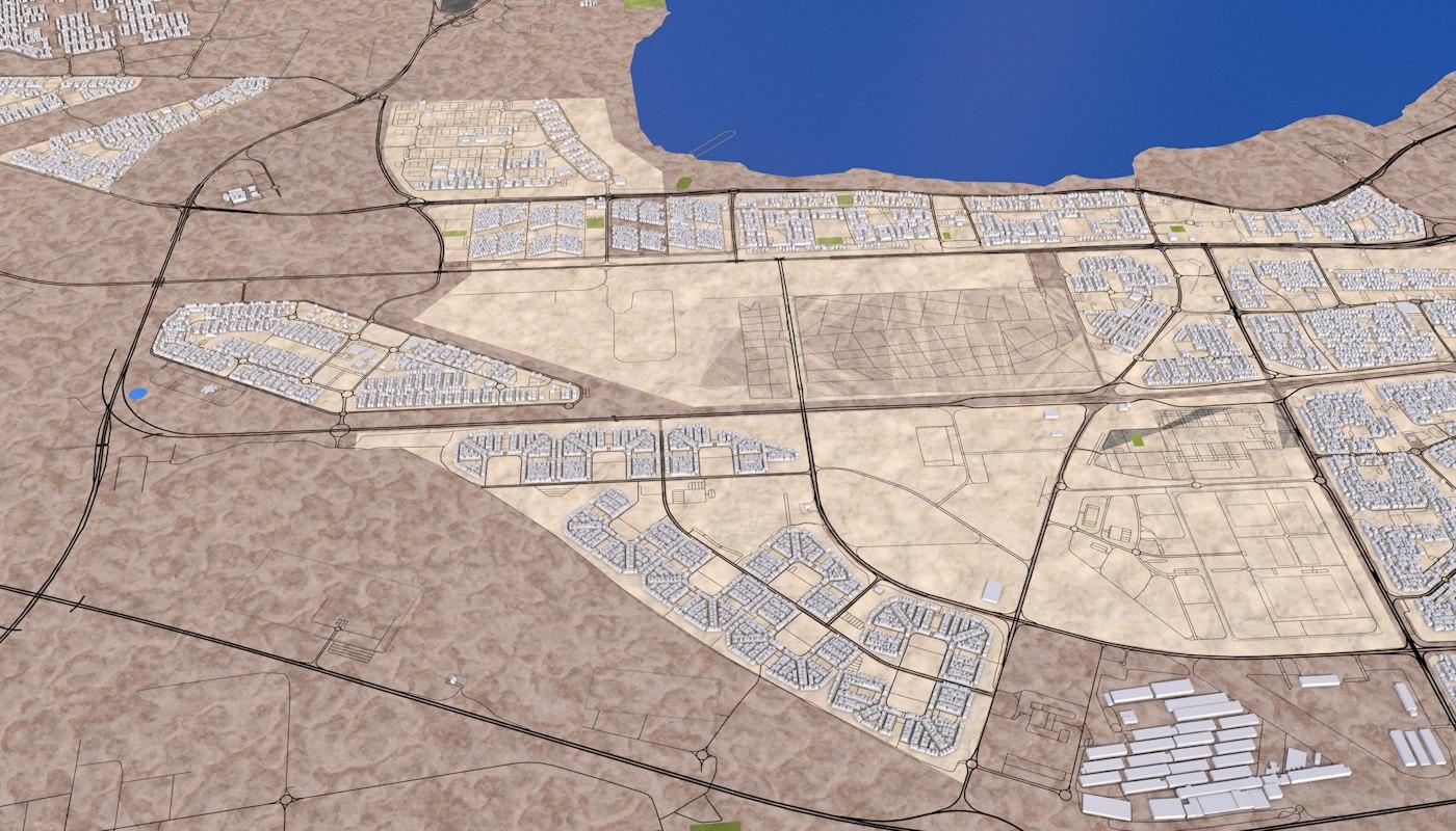 Kuwait City 3d model