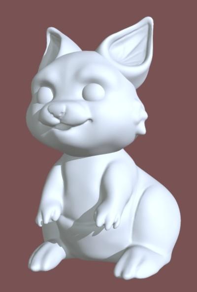 kangaroo chibi 3D model