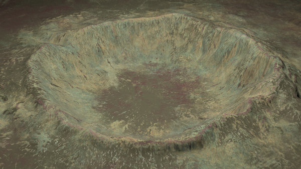 3D crater snow