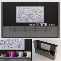 3D model office kitchenette