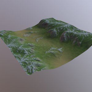 desert landscape nature 3D model
