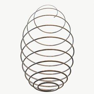 metal spiral spring 3D