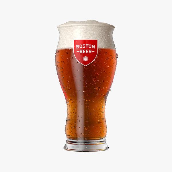 boston beer glass 3D model
