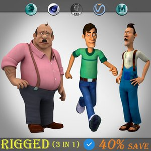 3D 3 1 fantasy character model