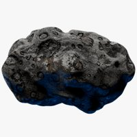 3D rocky asteroid 6