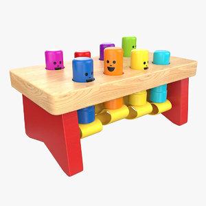 wood toy 3D
