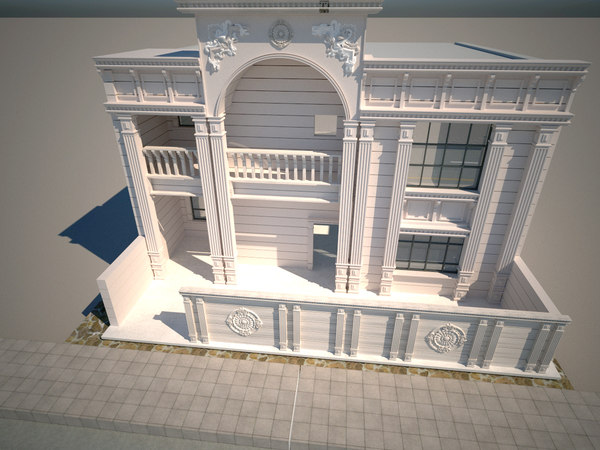 modeled classic facade model
