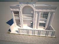 modeled classic facade model