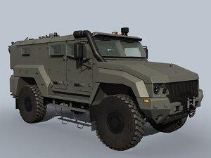3D russian vehicle typhoon k-53949