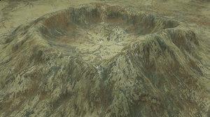 3D crater snow model