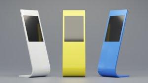 sample information kiosk touchscreen 3D model