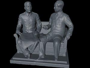 3D stalin mao model