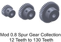 MOD 0.8 SB Spur Gear Collection