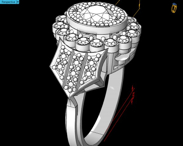 3D rings model