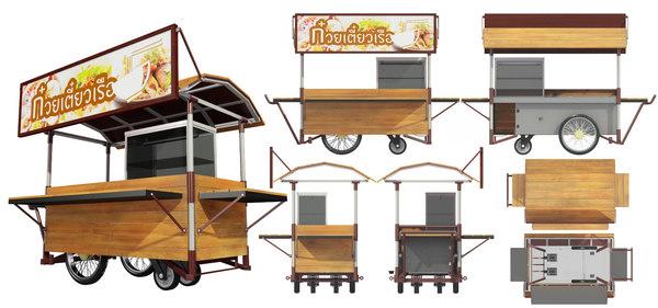 3D hawker stall