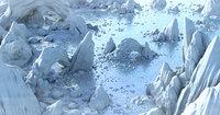 Arctic Igloo Town Environment
