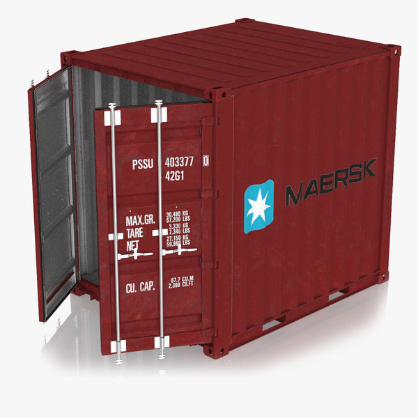 3D model cargo container 10ft