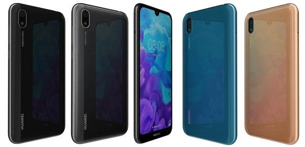 huawei y5 2019 colors 3D