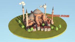 hagia sophia mosque istanbul 3D model