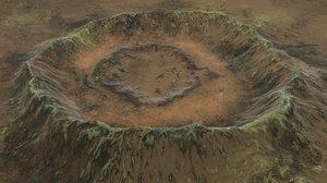 crater snow 3D model