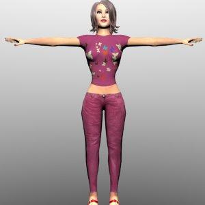 3D hot girl model