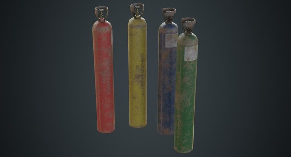 gas cylinder contains 2c 3D model