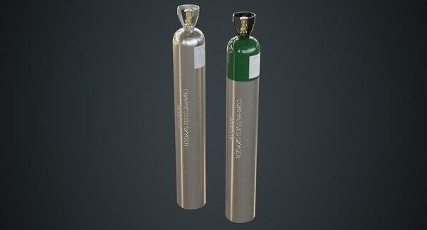 3D gas cylinder 2b