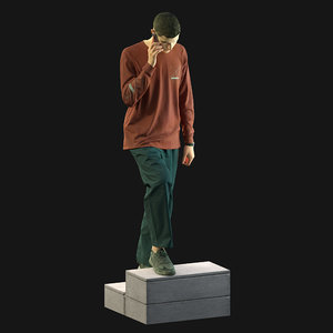 people man human 3D model
