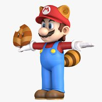 3D raccoon super mario bros