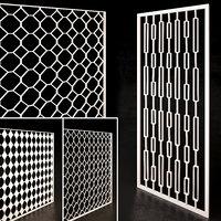 decorative partition set 02 3D model