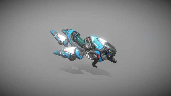 3D hovercraft destroyer